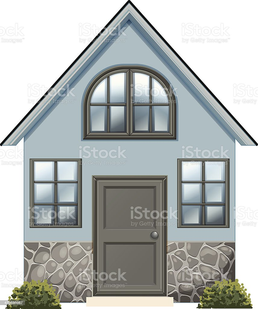 simple single detached house royalty-free stock vector art