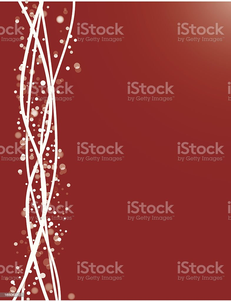 Simple snowflake card royalty-free stock vector art