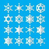 Simple Snowflake Icons