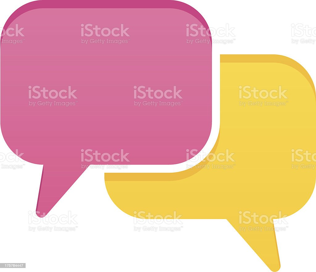 Simple speech bubbles vector art illustration