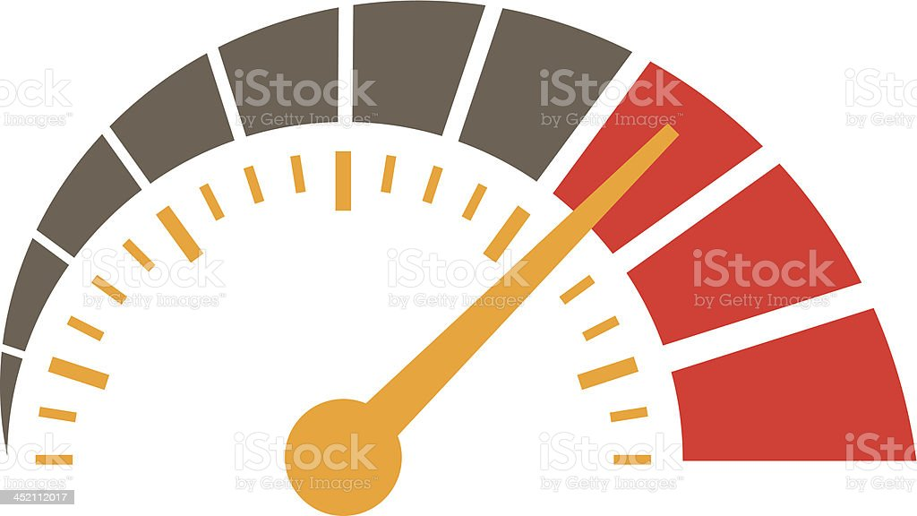 simple speedometer vector art illustration