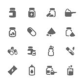 Simple Sport Supplements Icons