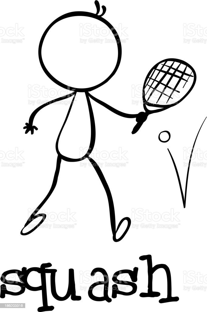 Simple sports figure royalty-free stock vector art