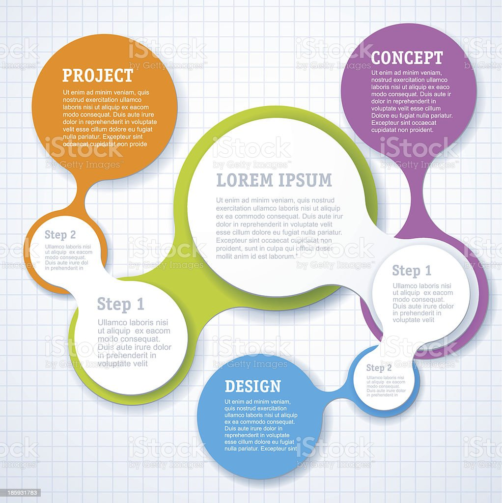 Simple step by step Infographic template design vector art illustration