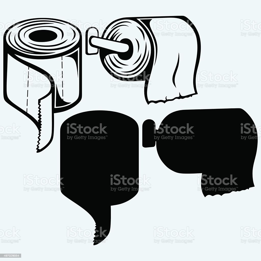 Simple toilet paper vector art illustration