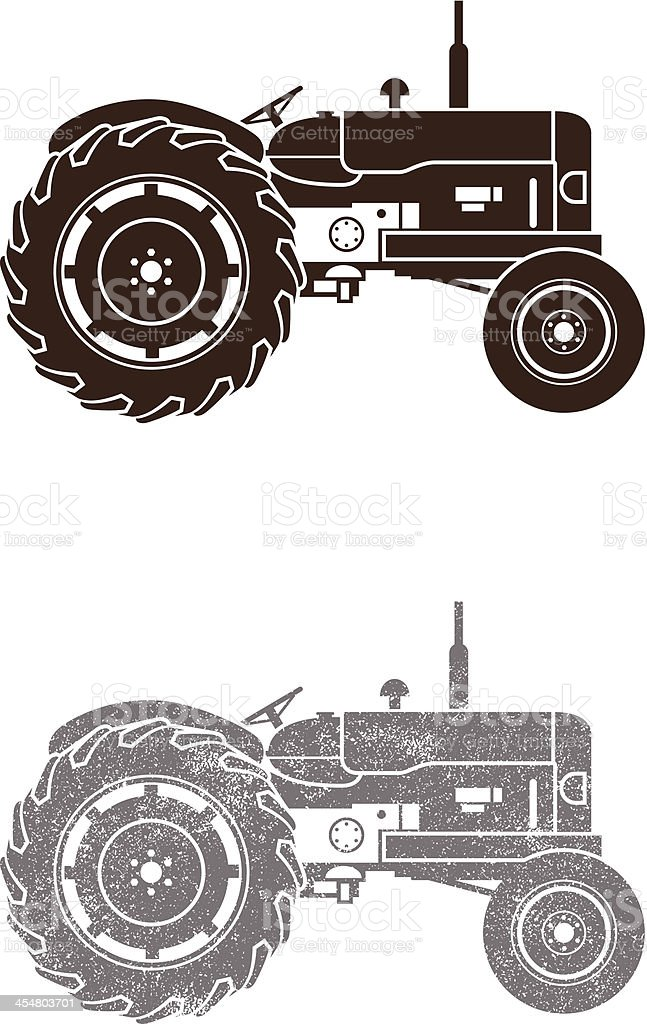 Simple tractor royalty-free stock vector art