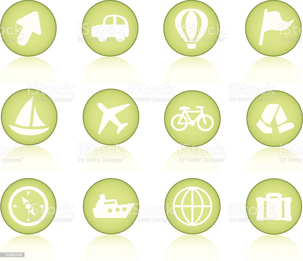 Simple travel icons royalty-free stock vector art