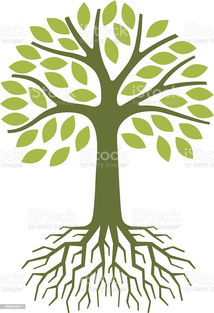 Simple tree illustration vector art illustration