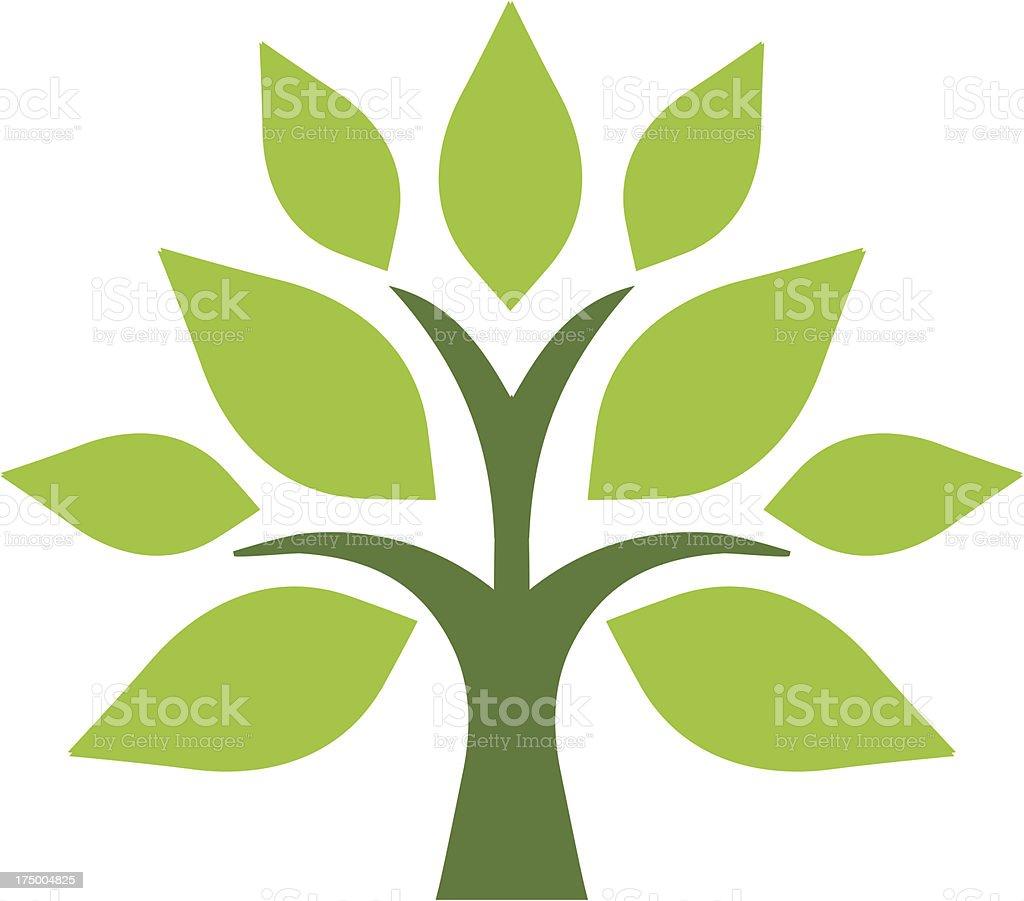 Simple tree vector art illustration