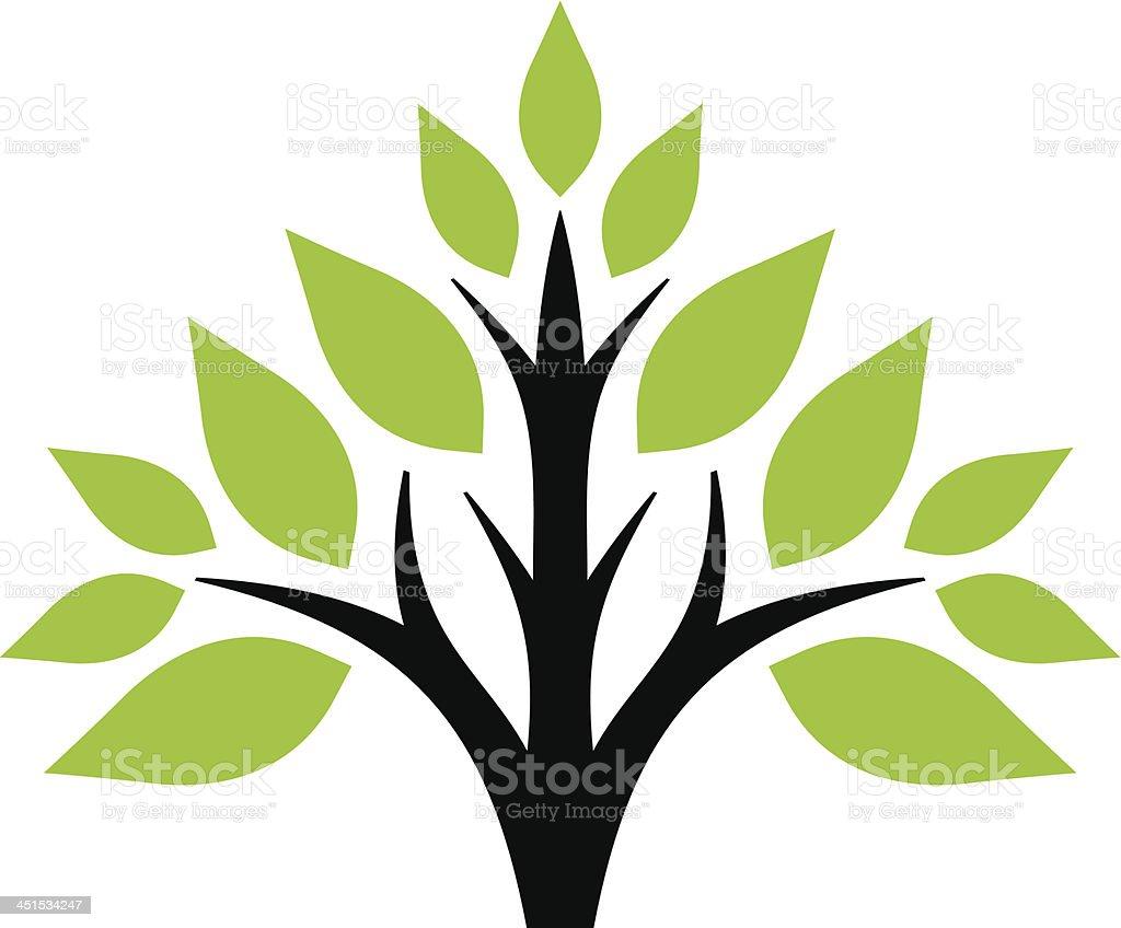 Simple tree royalty-free stock vector art
