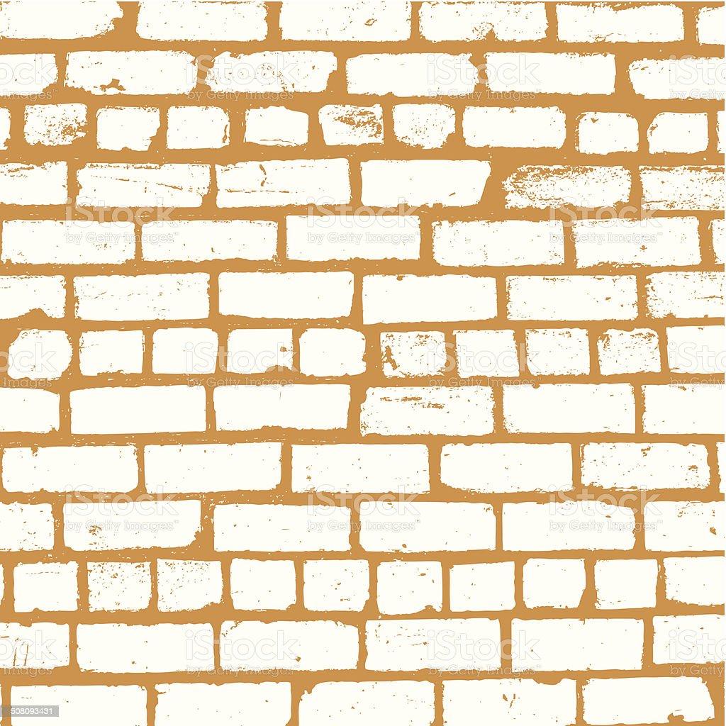 Simple vector background of old brickwork design vector art illustration