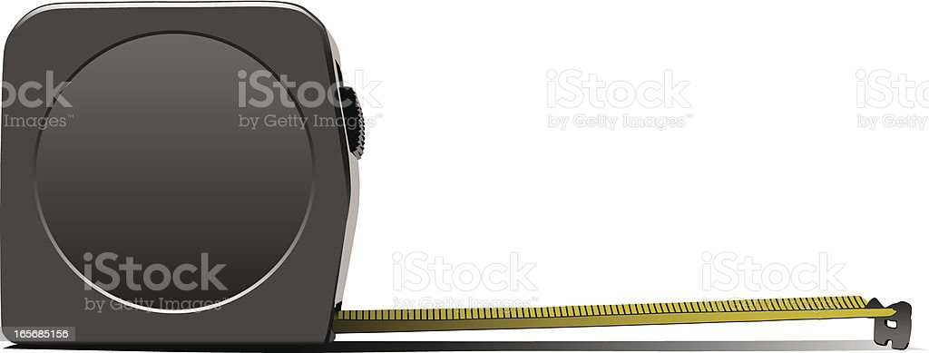 Simple vector image of a tape measure on a white background vector art illustration