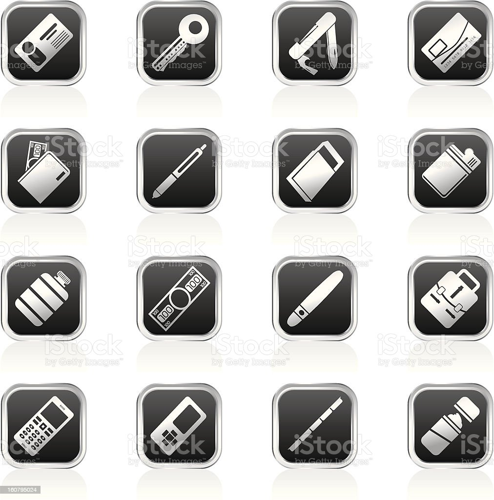 Simple Vector Object Icons royalty-free stock vector art