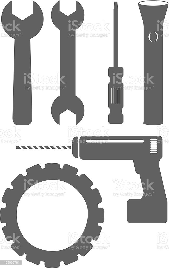 Simple vector tools royalty-free stock vector art
