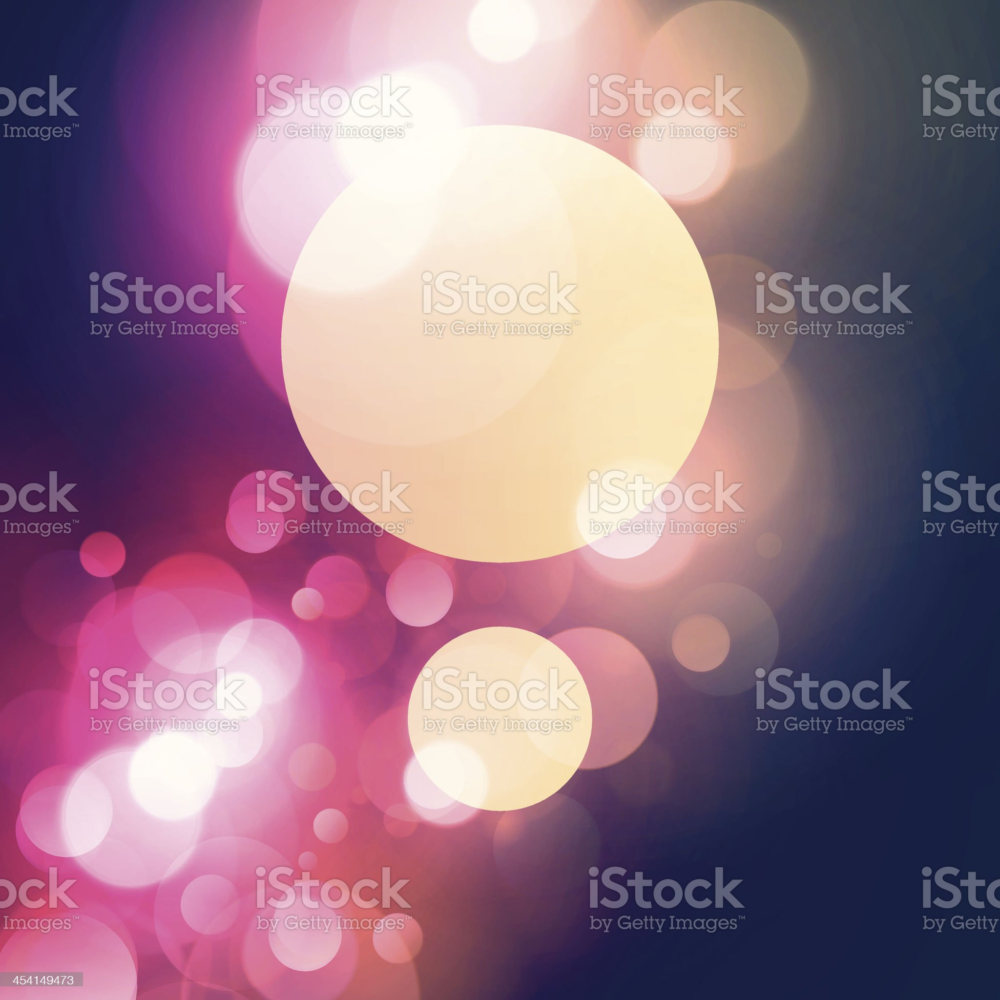 Simple Vintage Layout Copy Space Between Blurry Light Spots Background royalty-free stock vector art