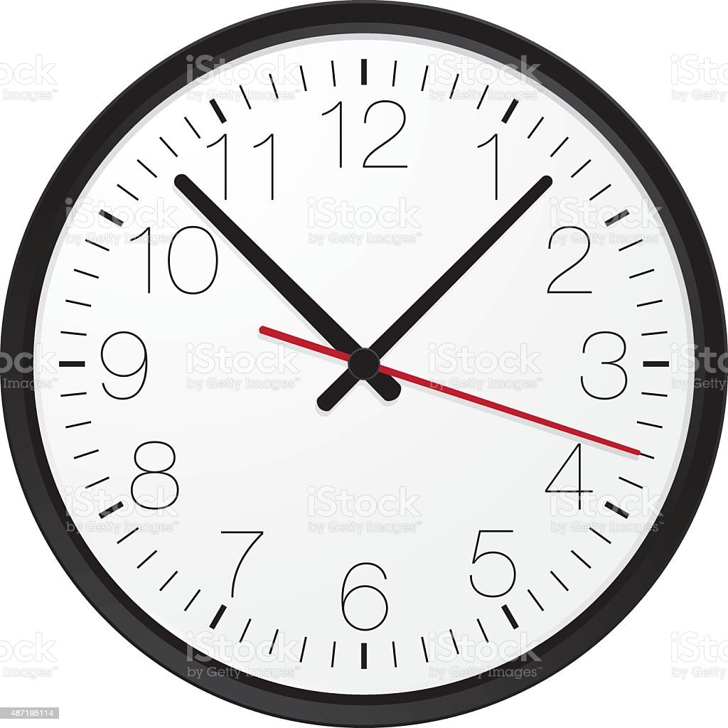 Simple wall clock vector art illustration