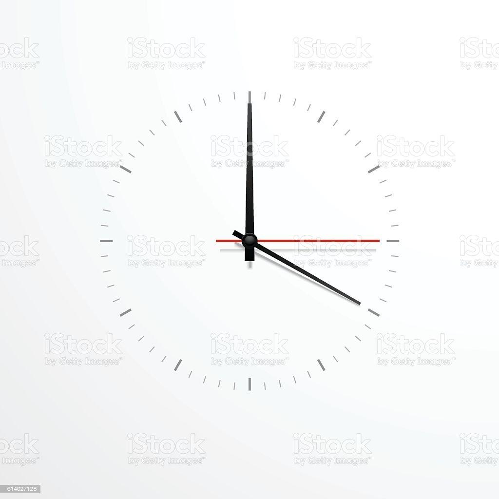 simple wall clock vector art illustration