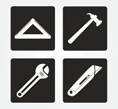 Simple web icon in vector: Construction Tools