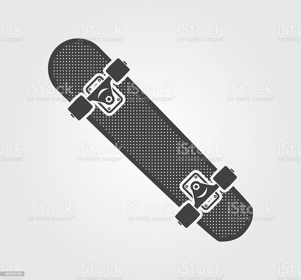 Simple web icons: Skateboard vector art illustration