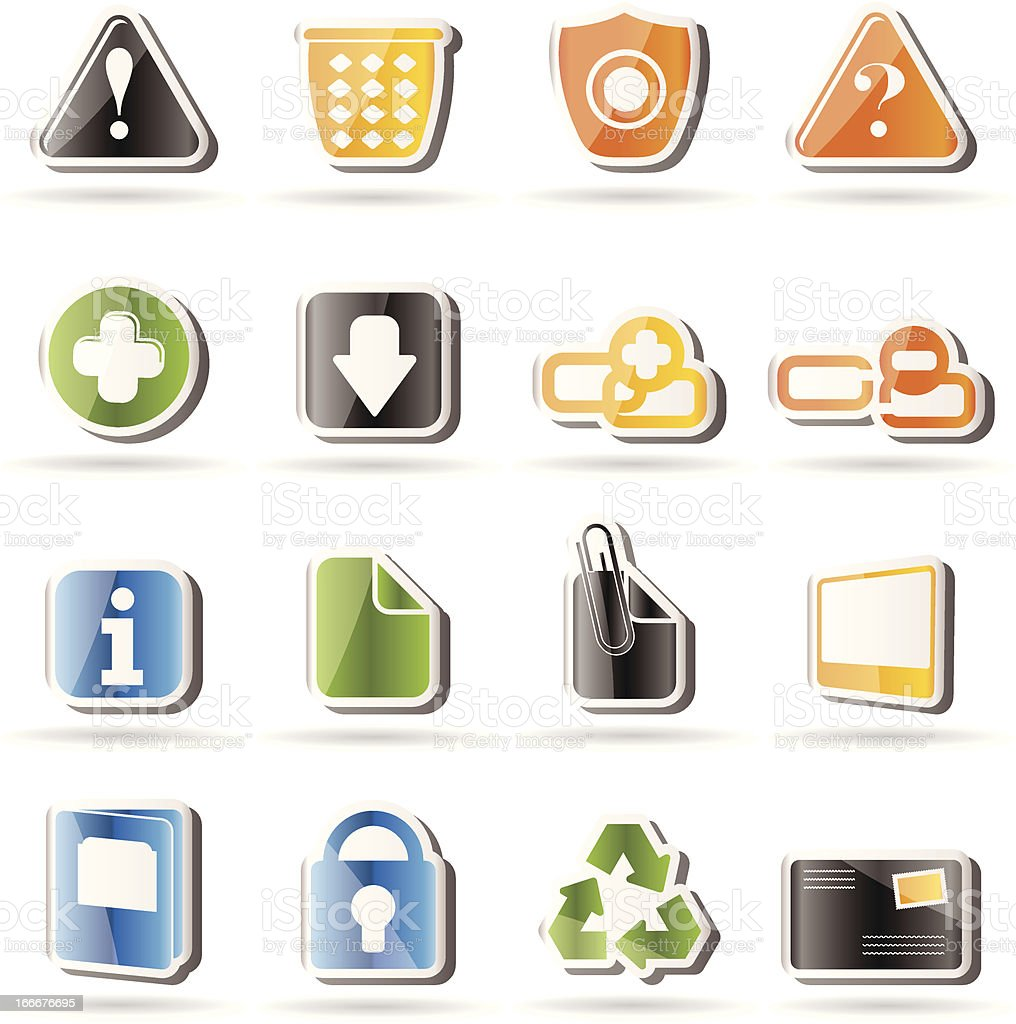 Simple Web site and computer Icons royalty-free stock vector art
