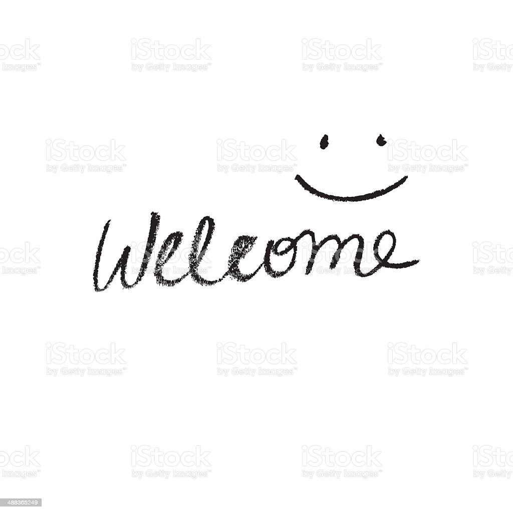 Simple Welcome sign vector art illustration