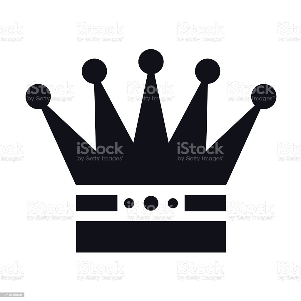 Simple white royalty Crown - VECTOR vector art illustration