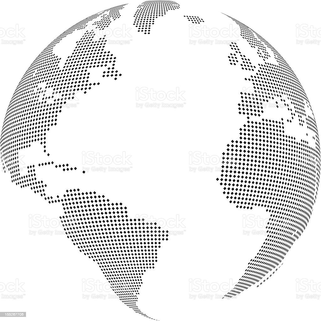 Simple World globe vector art illustration