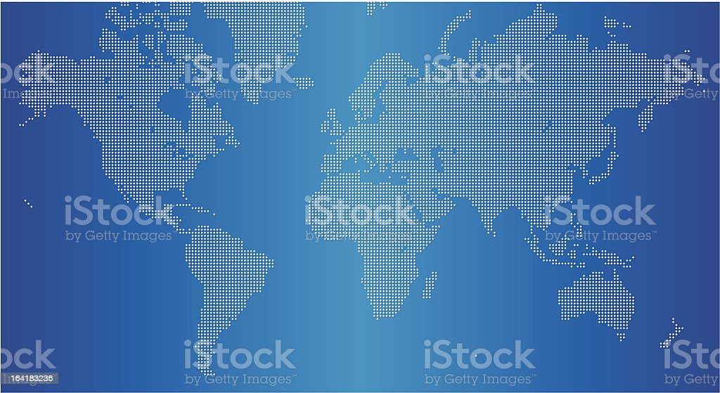 Simple World map royalty-free stock vector art