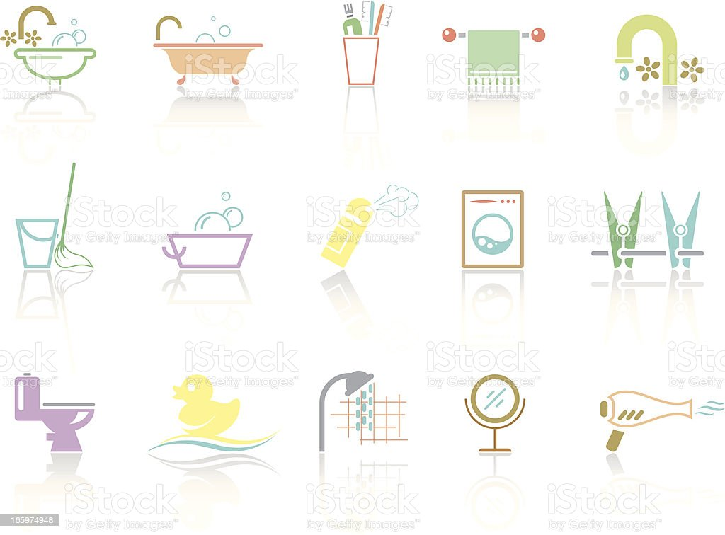 Simplecolor – Bathroom & WC royalty-free stock vector art