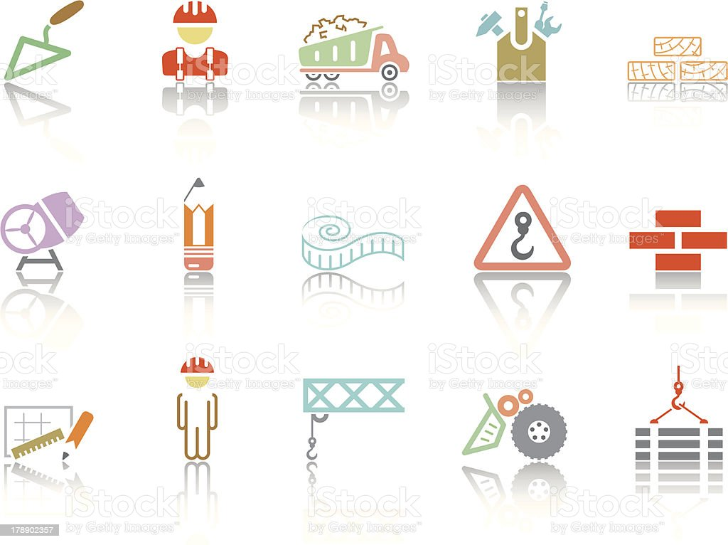 Simple icons – Building vector art illustration