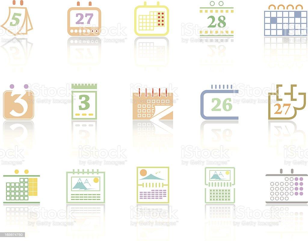 Simplecolor – Calendars royalty-free stock vector art