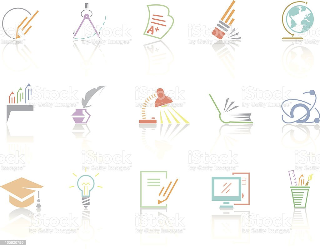 Simplecolor – Education royalty-free stock vector art