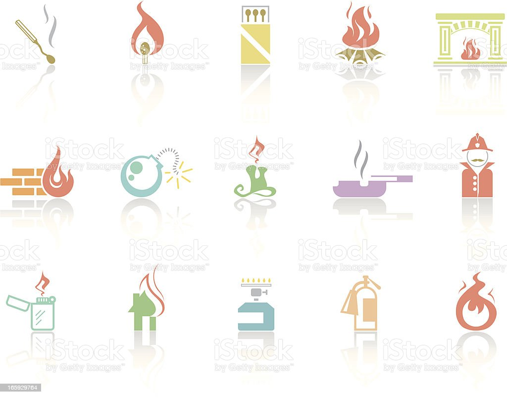 Simplecolor – Fire royalty-free stock vector art