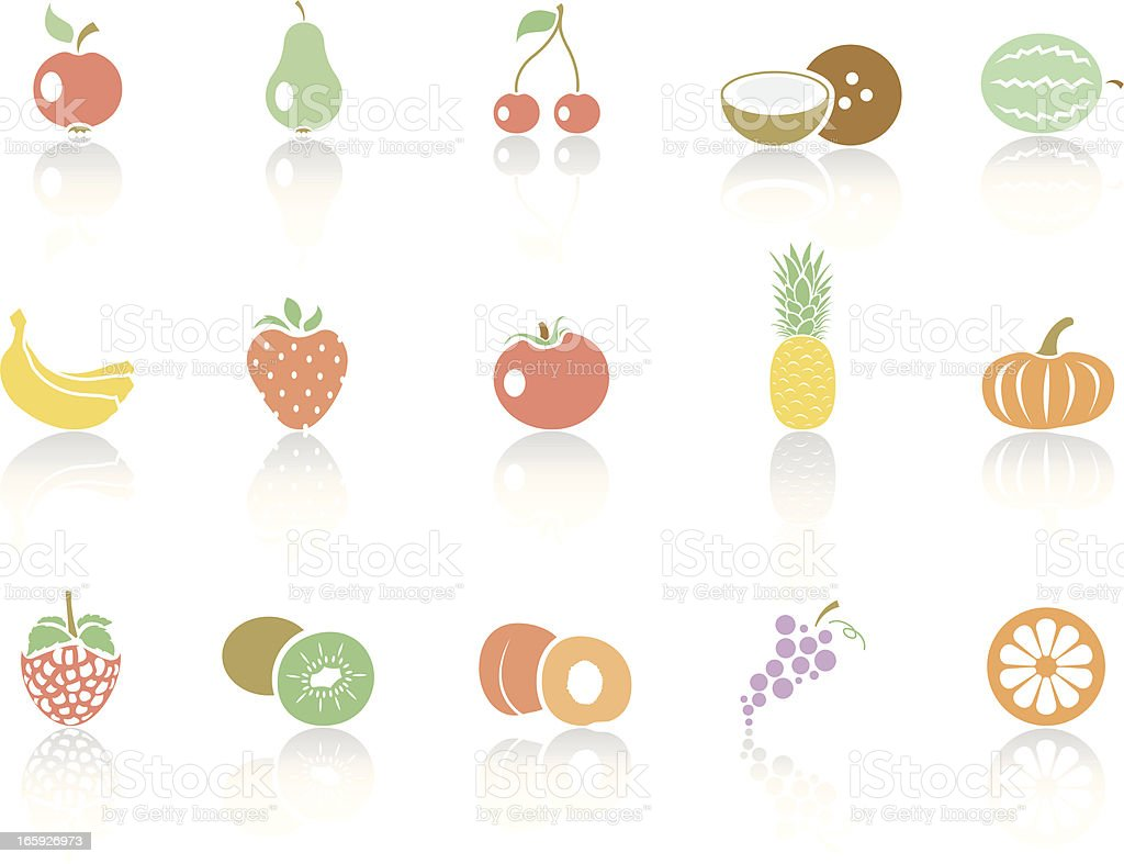 Simplecolor – Fruits royalty-free stock vector art