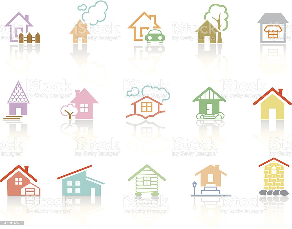 Simplecolor – Houses royalty-free stock vector art
