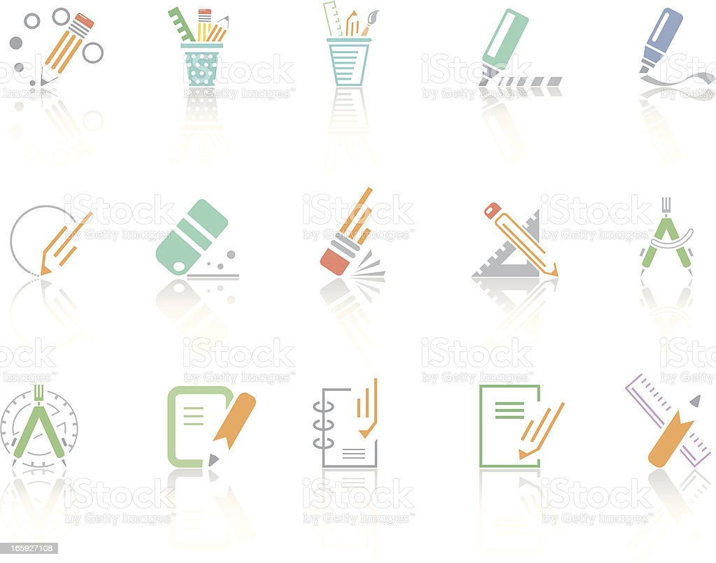 Simplecolor – Office tools vector art illustration