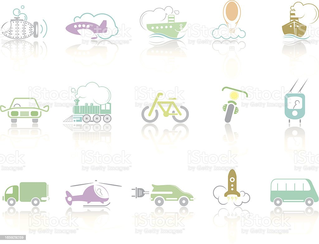 Simplecolor – Transport royalty-free stock vector art