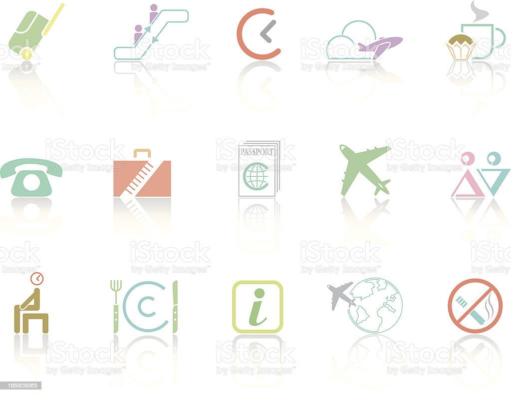Simplecolor – Travel & Airport royalty-free stock vector art