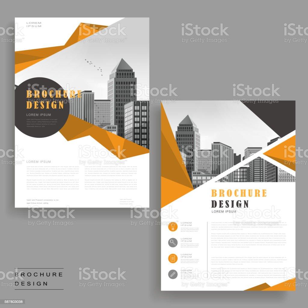 Simplicity brochure design vector art illustration