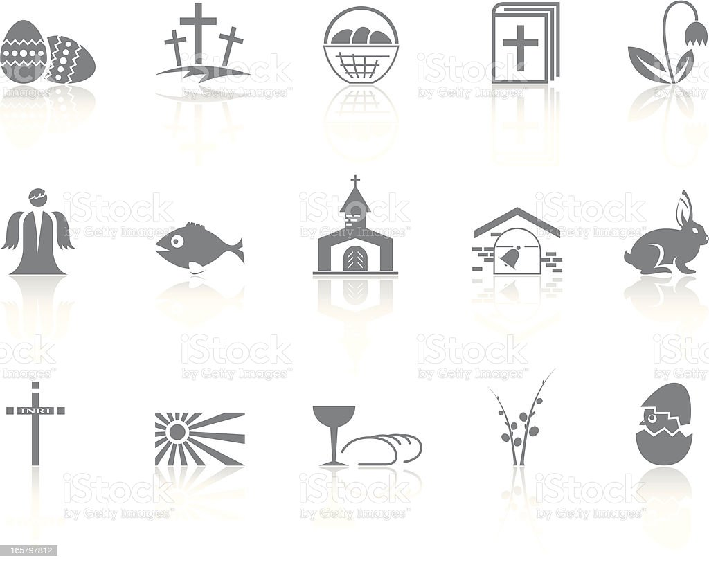 Simple icons – Easter vector art illustration