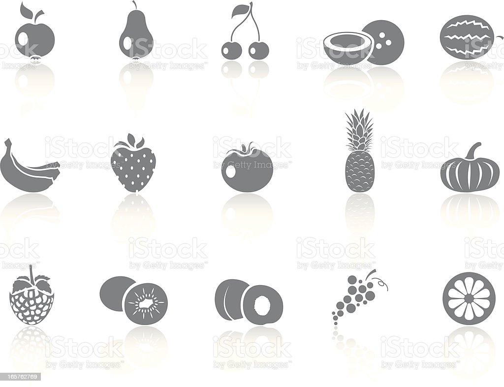 Simplicity >  Fruits royalty-free stock vector art