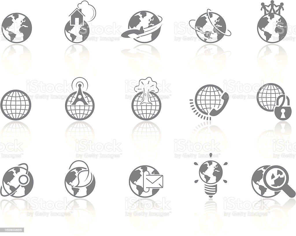 Simplicity > Globes royalty-free stock vector art