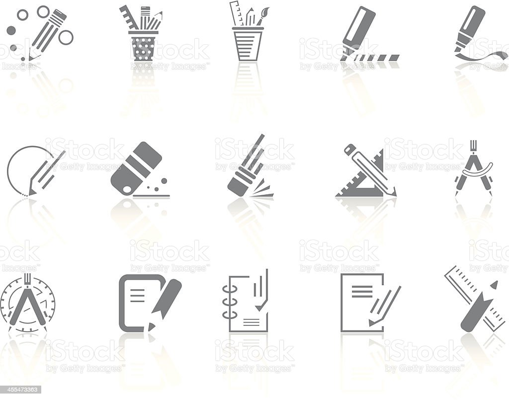 Simplicity > Office tools vector art illustration