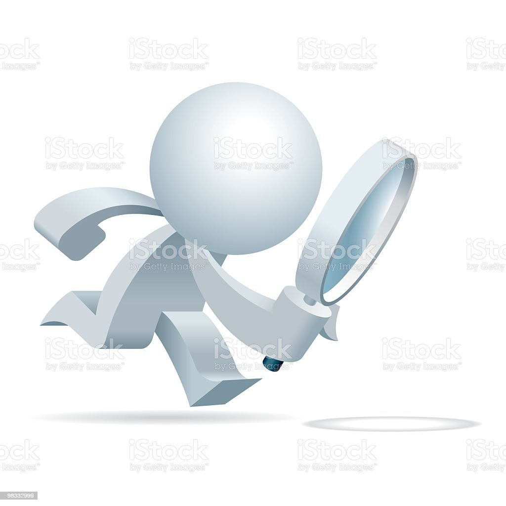 Simplified man Follow the trace royalty-free stock vector art
