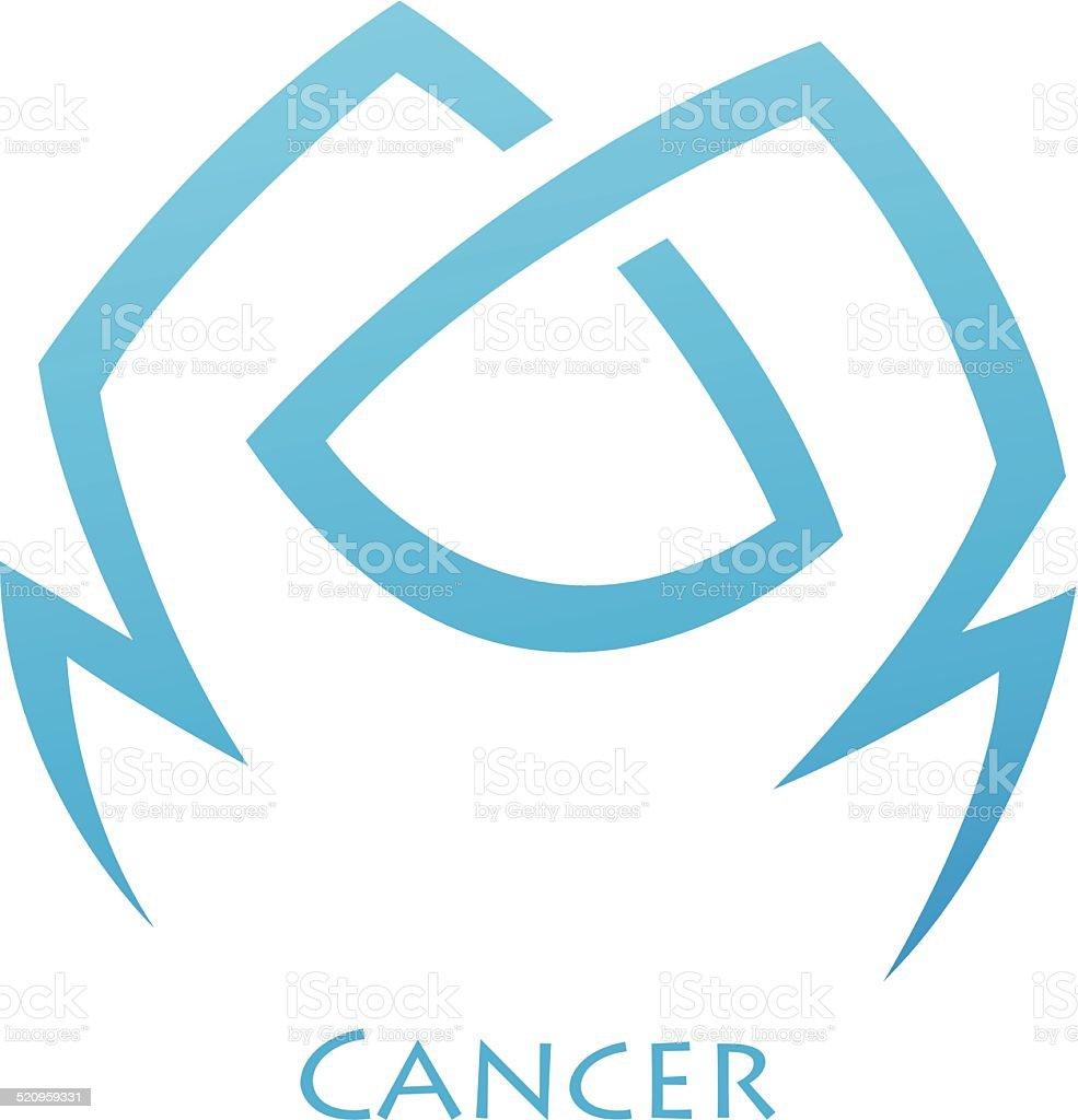 Étoiles de Signe du zodiaque simpliste Cancer stock vecteur libres de droits libre de droits