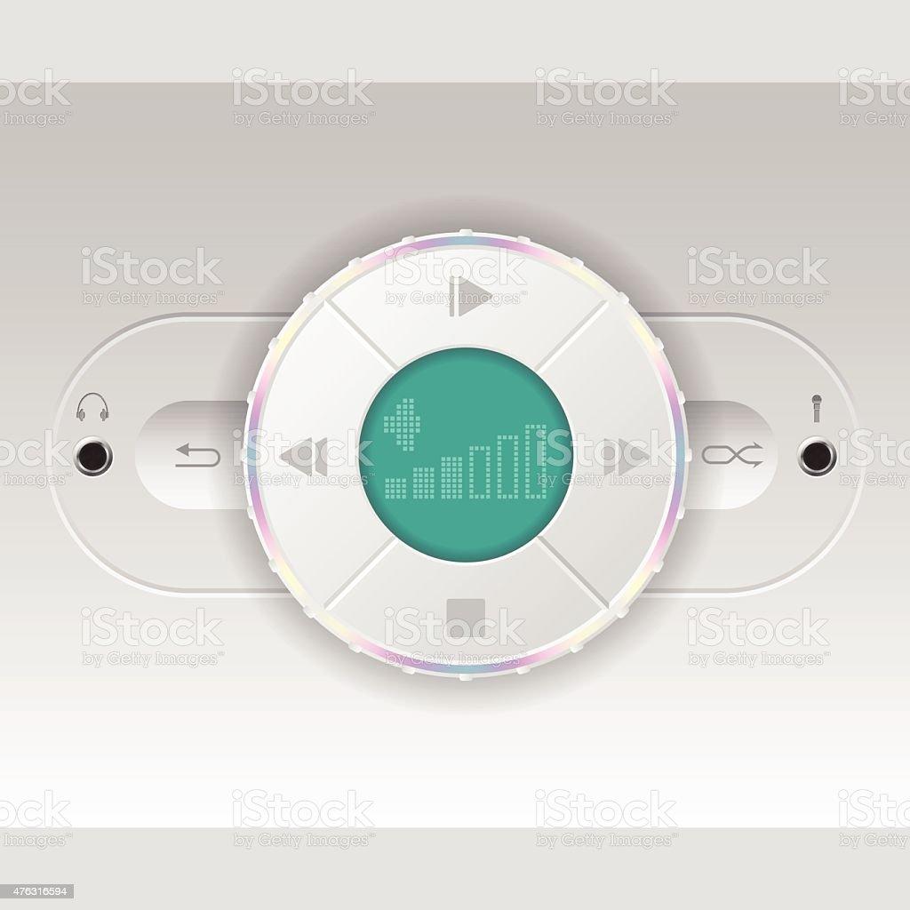 Simplistic car audio dashboard vector art illustration