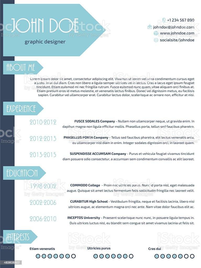 simples e moderno retoma curriculum vitae cv wit modelo de design