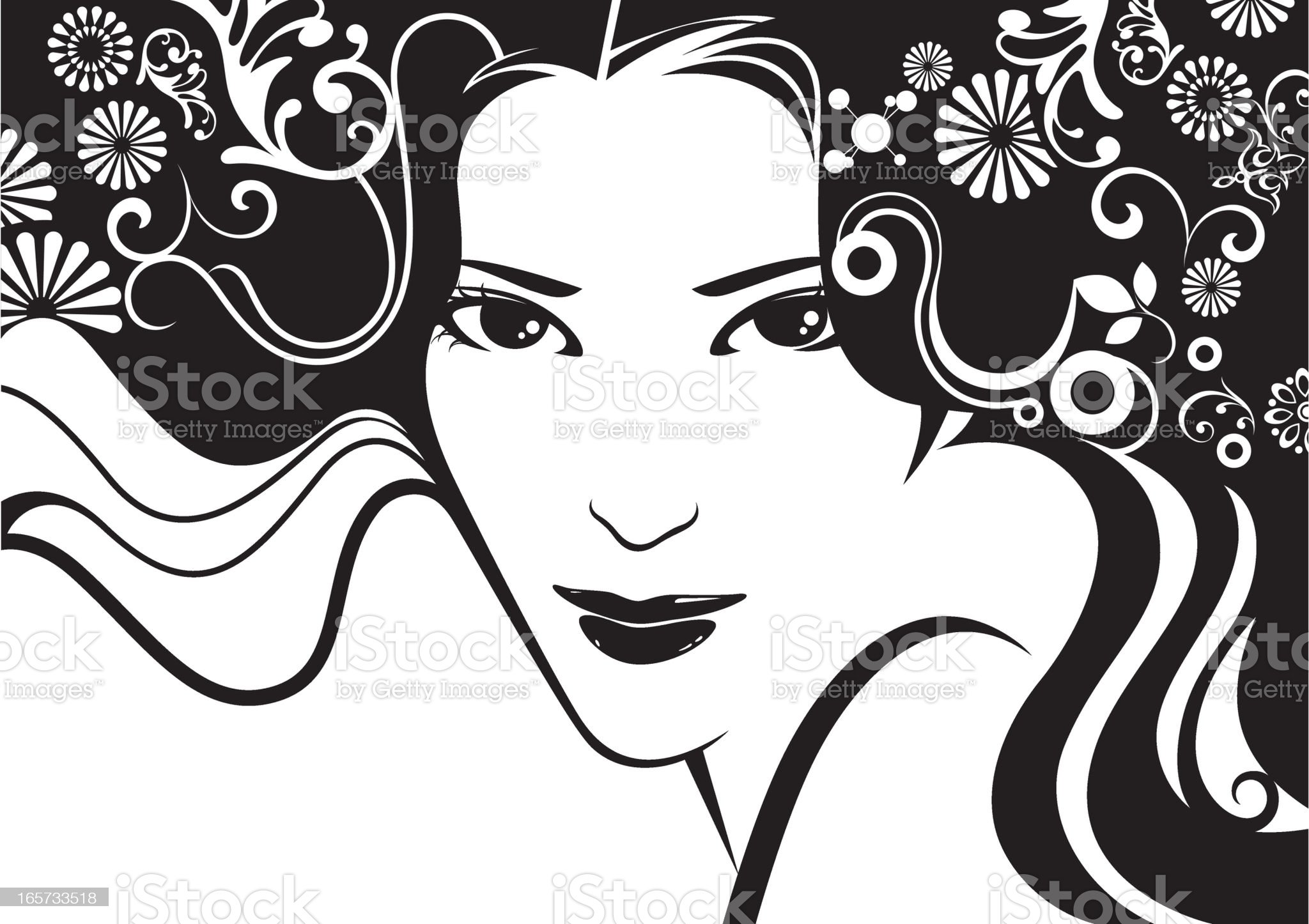 Simply beauty. royalty-free stock vector art