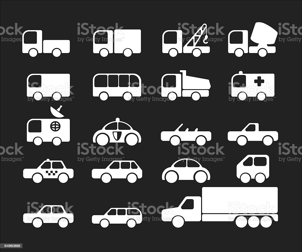 Simply car icons royalty-free stock vector art