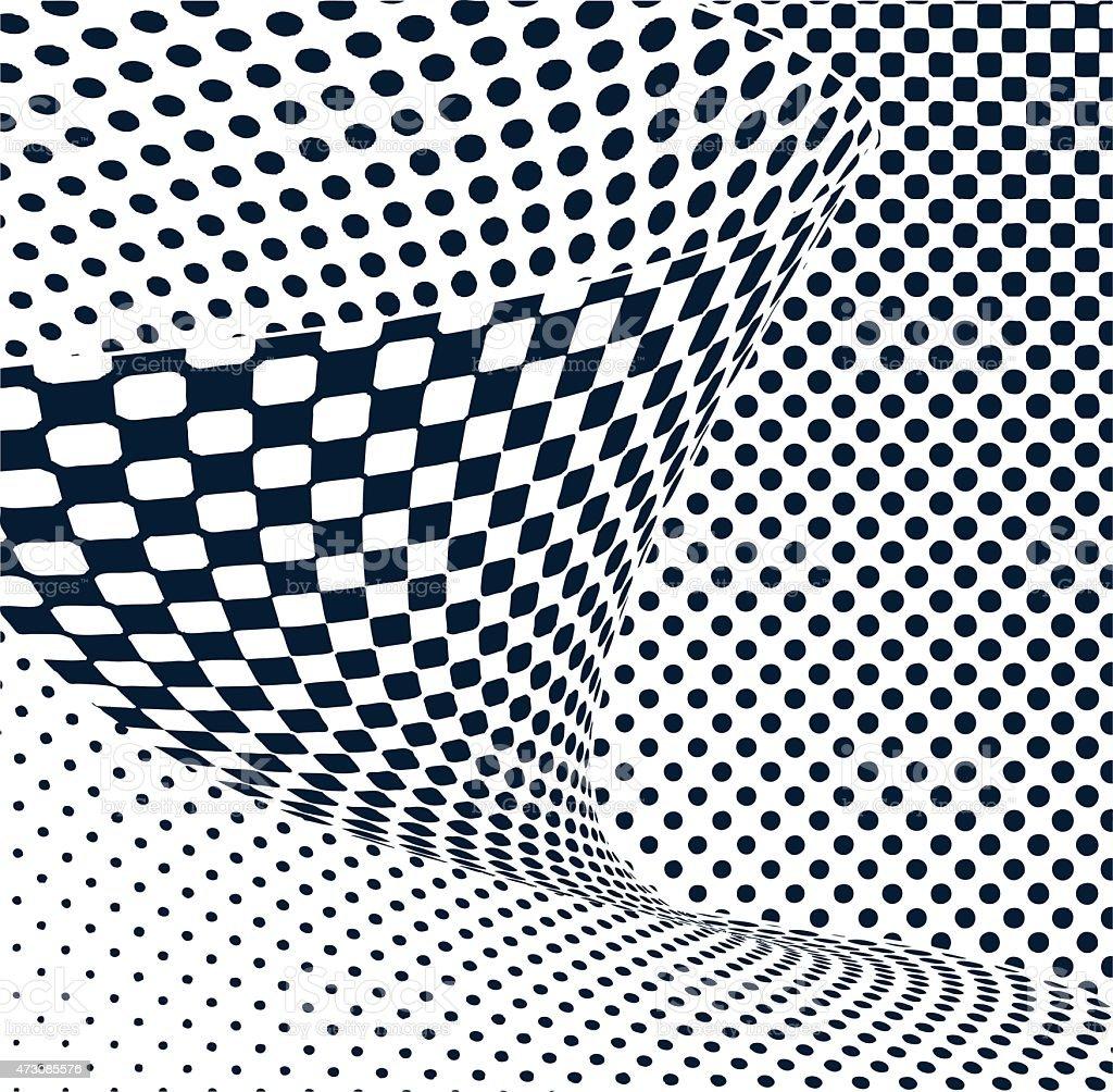 Sine Wave halftone Pattern vector art illustration